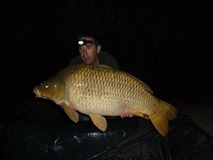Andrew's new PB common - 41 lb 8 oz swim 5 - April 2014