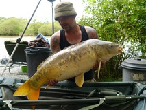 Paul with a cracker ! - 29 lb swim 9 - June 2014