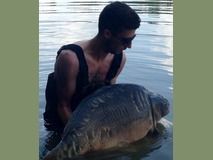 Nick's new pb swim 11 - 52 lb The Big Scale  - July 2014