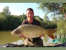 John swim 1 - 28 lb peachy keen - August 2014