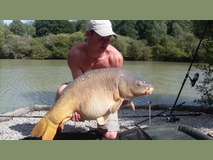 Jamies pb - 46 lb mirror - June 2011
