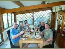 Happy times - Last nights dinner with us - October 2014