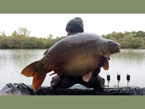 Mick with Rosie - 46 lb 5 oz swim 9 - October 2014