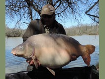 Dave swim 9 - 57 lb 14 oz Daisy - April 2015