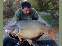 Matt with The Mole - 53 lb 8 oz swim 2 - April 2015
