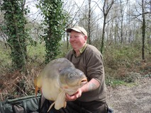 Cookie with Bricktop - 51 lb 14 oz swim 10 - April 2015