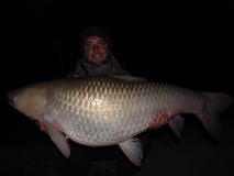 James new PB. Grass - 45 lb 8 oz swim 4 - April 2015