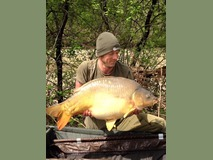 Dave new PB - 44 lb 8 oz swim 4  - April 2015
