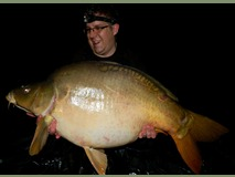David with Charlie's Shoulders - 50 lb 4 oz swim 9 - May 2015