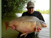 David with The Mole - 53 lb 4 oz swim 9 - May 2015