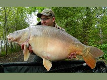 David with nobby - 40 lb 8 oz swim 9 - May 2015