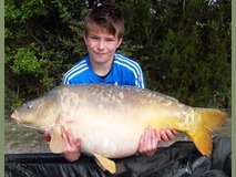 Harrison with H - 42 lb swim 3 - May 2015