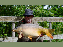Martyn this year's stockie - 25 lb 8 oz swim 7  - May 2017