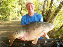 Pete with The Big Scale - 51 lb swim 11 second pb - August 2017