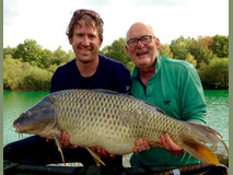 Paul and Nick with Smudge - 48 lb swim 4  - October 2017