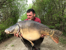 Rob with Nobby - 41 lb swim 8  - April 2018
