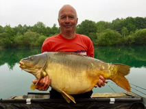 Pete with Tash - 44 lb 8 oz swim 4 - May 2018