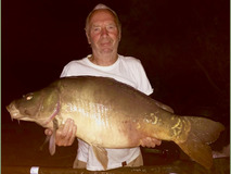 Pete with Nobby - 41 lb swim 11  - August 2018
