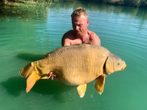 Rod with Blondie - 41 lb 10 oz swim 3  - September 2018