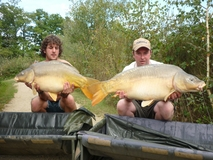 Mat and Rich - 32lb and 28 lb - September 2011