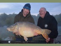Nick and Paul with Nobby - 45 lb 12 oz swim 5  - May 2019