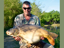 Adam with Forest - 54 lb swim 5 - May 2019