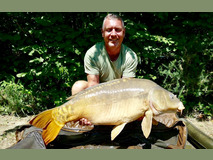 Matt with Big Al - 37 lb swim 2  - July 2019