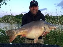 Tony with nobby - 47 lb 6 oz swim 5  - April 2020