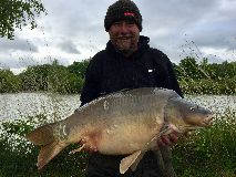 Tony with Clover - 39 lb 2 oz swim 5  - April 2020