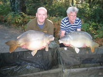 Tony and Steve - Brace 33lb 34lb - September 2012